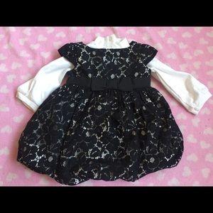 Baby girl gap size 0-3 months dress winter black